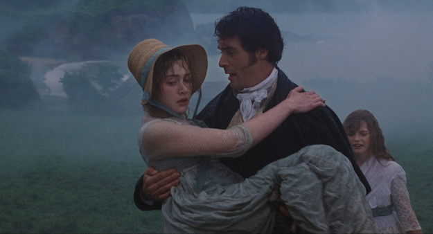 Willoughby carrying Marianne in Sense & Sensibility