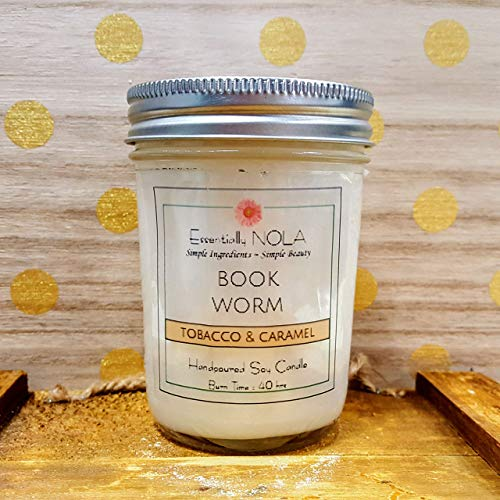 Book Worm candle