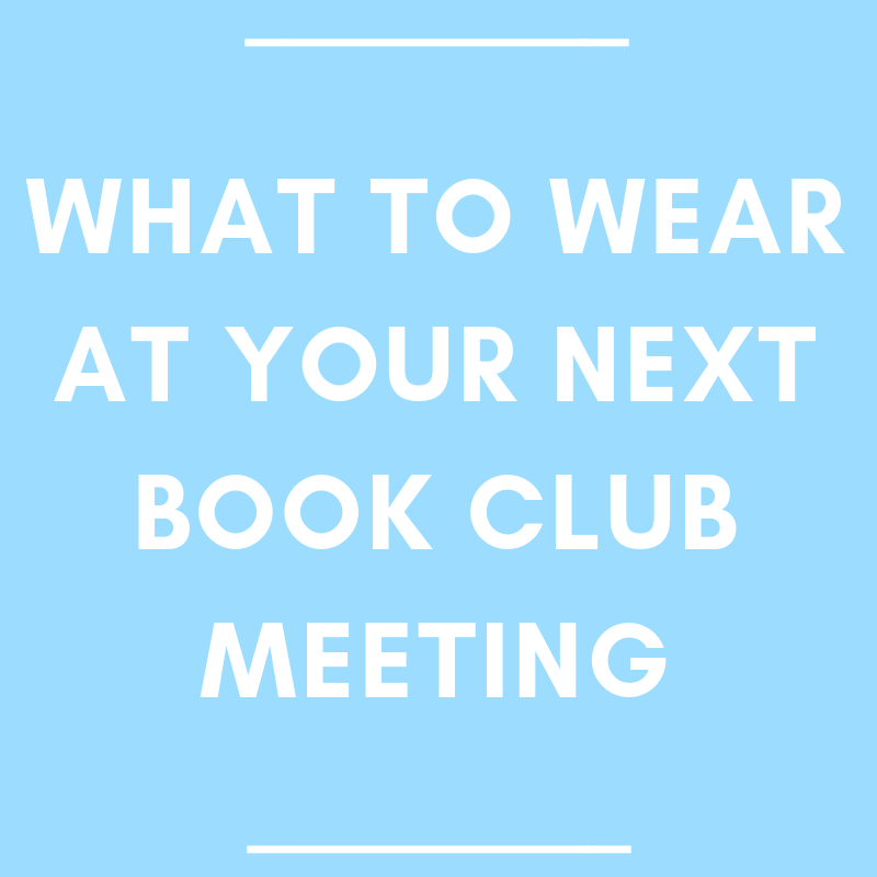 What to wear at your next book club meeting
