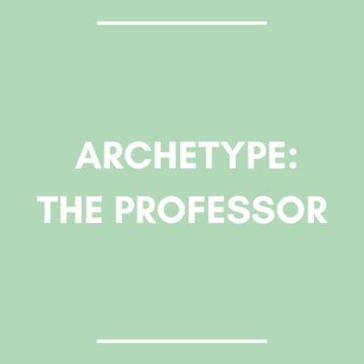 romance hero archetype: the professor