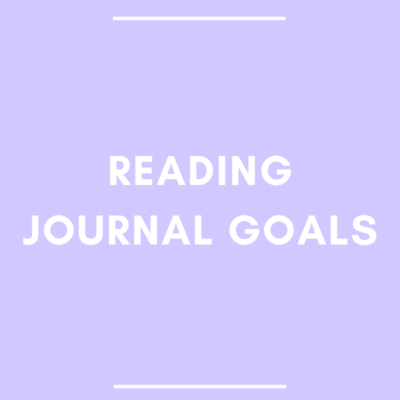 Reading Journal Goals