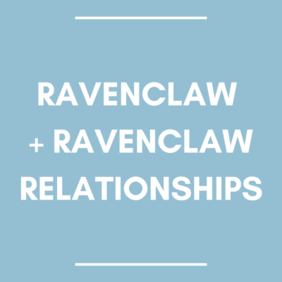 Ravenclaw and ravenclaw relationships blue background
