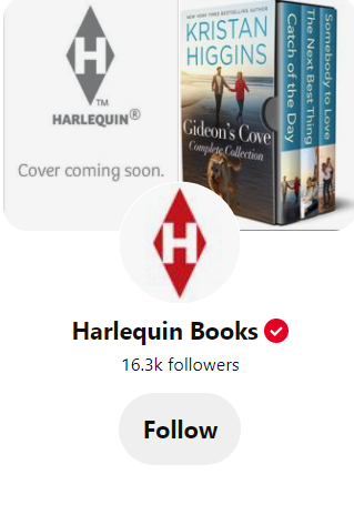 Pinterest page for Harlequin Books
