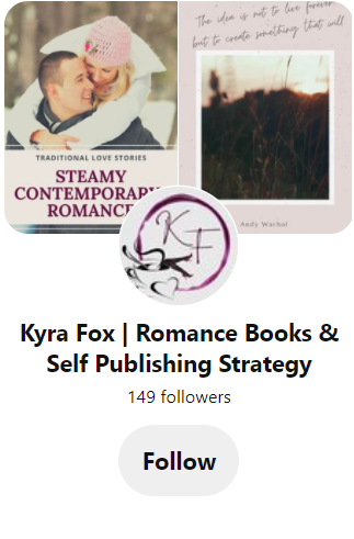 Pinterest page for Kyra Fox