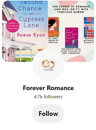 Pinterest page for Read Forever Books