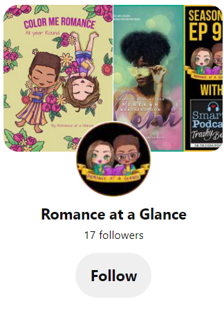 Pinterest page for Romance at a Glance