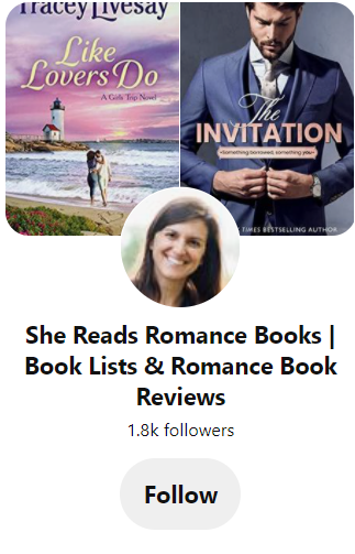 Pinterest page for She Reads Romance Books
