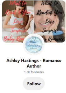Pinterest page for Ashley Hastings
