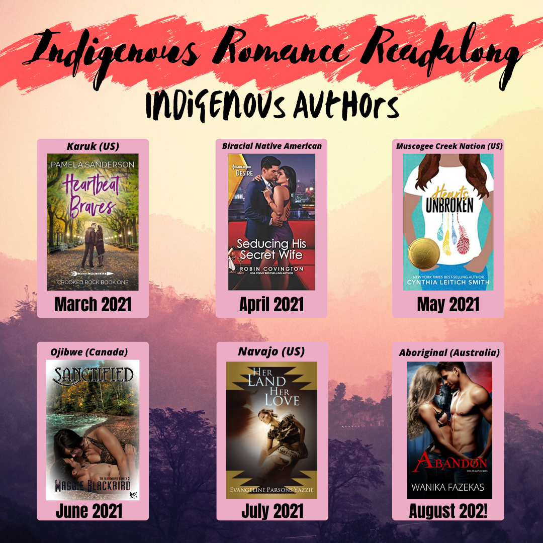 promotional graphic for Indigenous Romance Readalong
