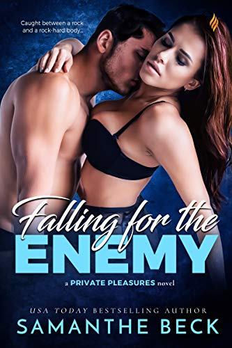 book cover for Falling for the Enemy by Samanthe Beck
