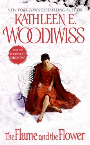 book cover for The Flame and the Flower by Kathleen E. Woodiwiss