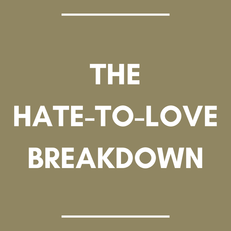 the hate-to-love breakdown